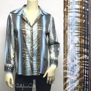 ROBERTO CAVALLI CLASS ButtonDown Shirt 12 10 IT 46